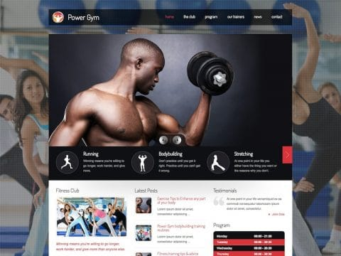 Power Gym WordPress Theme