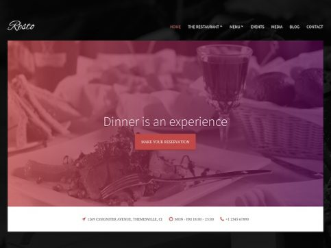 Resto Restaurant WordPress Theme