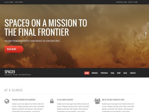 Space9 Business WordPress Theme