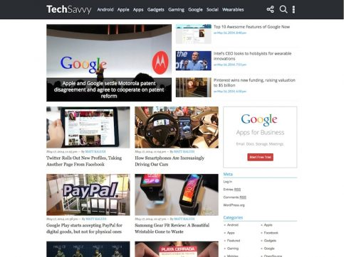 TechSavvy WordPress Theme
