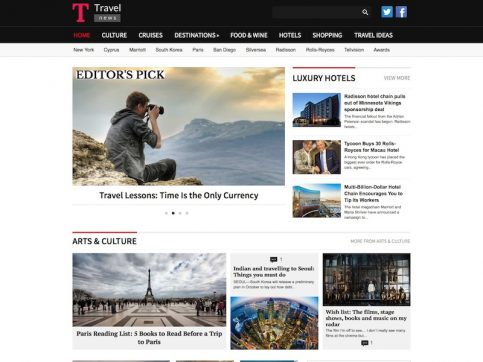 Travel News WordPress Theme