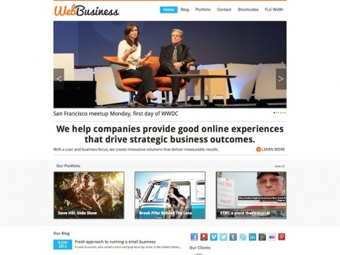 WebBusiness WordPress Theme