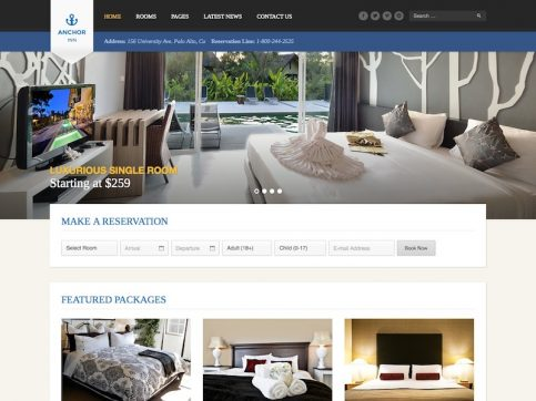 Anchor Inn Hotel WordPress Theme