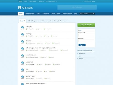 Answers Directory WordPress Theme