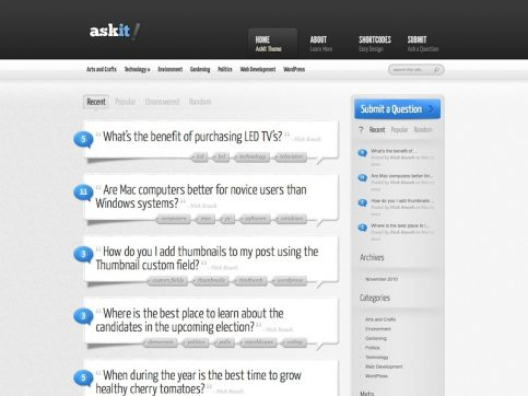 Ask It Directory WordPress Theme