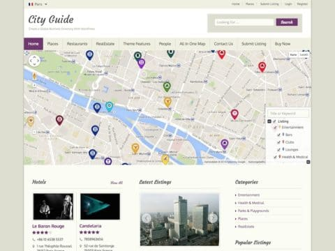 City Guide Directory WP Theme