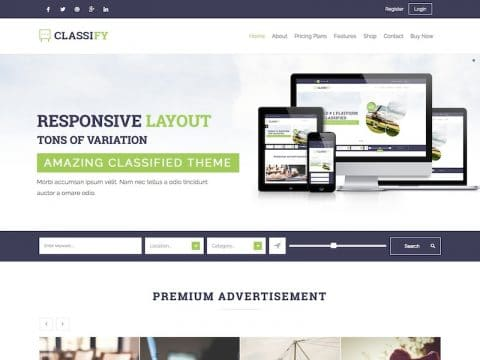Classify WordPress Theme