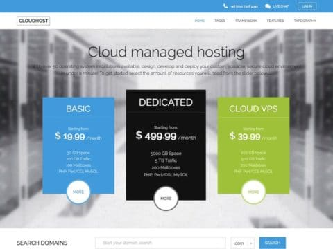 CloudHost WP Theme