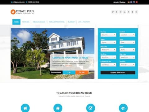 Estate Plus WP Theme