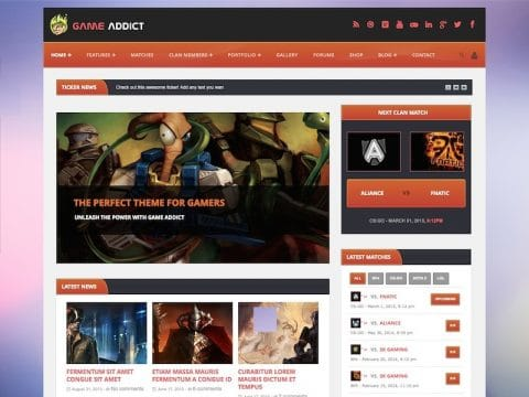 Game Addict WP Theme