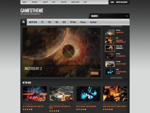 GamesTheme WP Theme
