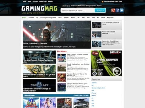 GamingMag WP Theme