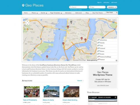 GeoPlaces Directory WordPress Theme