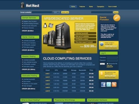 Hot Host WP Theme