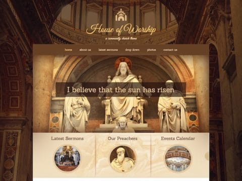 House of Worship WP Theme