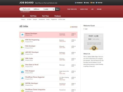 Job Board Directory Theme