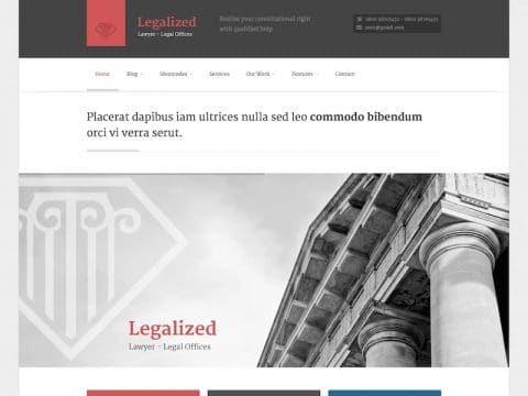 Legalized WordPress Theme