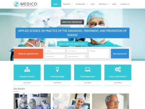 Medico Medical WP Theme