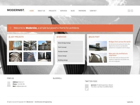 Modernist WP Theme