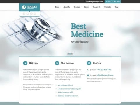 Panacea Medical WP Theme