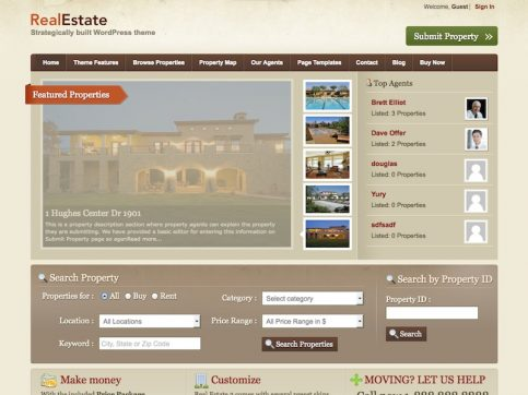 Real Estate 2 Directory WordPress Theme