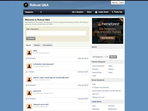 Robust Q&A WP Theme