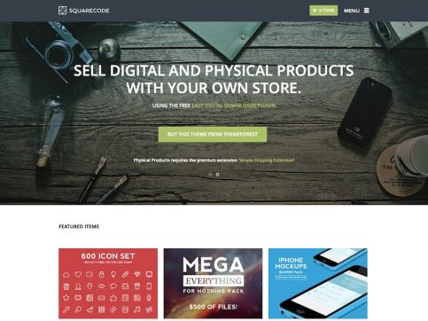 SquareCode Marketplace WordPress Theme
