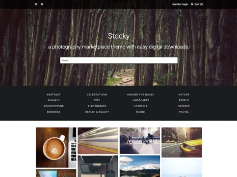 Stocky Marketplace WordPress Theme