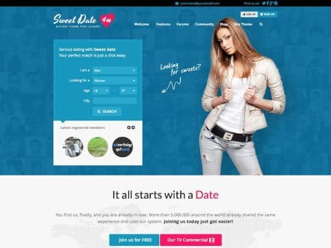 Sweet Date WP Theme
