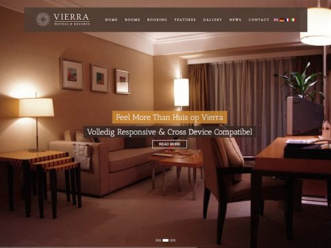 Vierra Hotel WordPress Theme