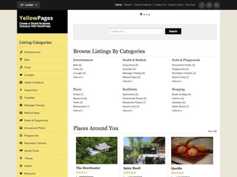 YellowPages Directory WordPress Theme