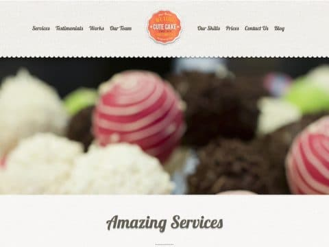 CuteCake WordPress Theme