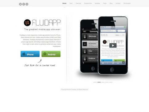 FluidApp WordPress Theme