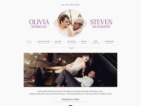 Game Over Wedding WordPress Theme