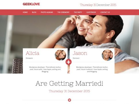 GeekLove Wedding WordPress Theme