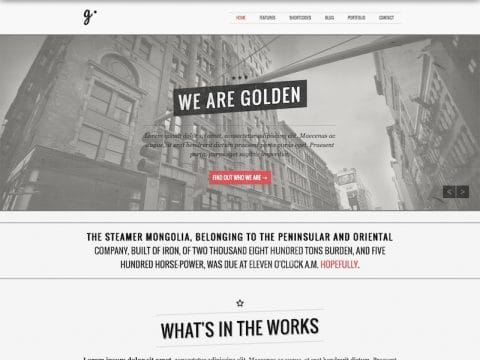 Golden WordPress Theme