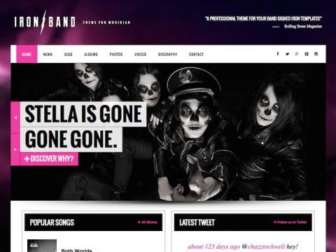 Ironband WordPress Theme