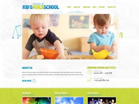 KidsVoice WordPress Theme