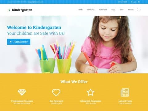 Kindergarten Kids Theme
