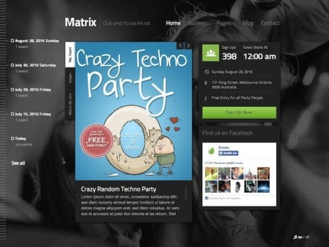 Matrix Event WP Theme