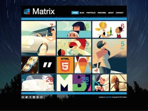 Matrix WordPress Theme