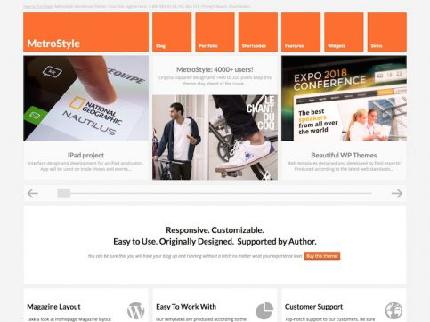 MetroStyle WordPress Theme