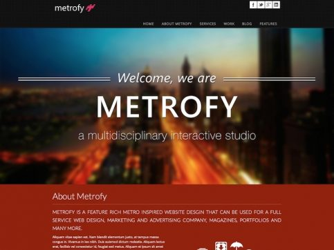 Metrofy Metro WordPress Theme