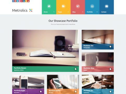 Metrolics Metro WordPress Theme