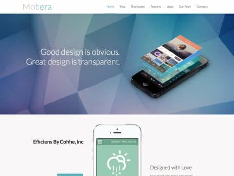 Mobera WordPress Theme