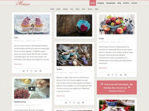 Mousse WordPress Theme