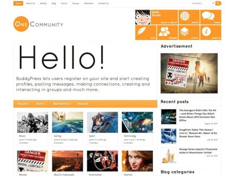 OneCommunity Metro WordPress Theme