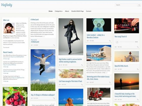 Pinfinity WordPress Theme