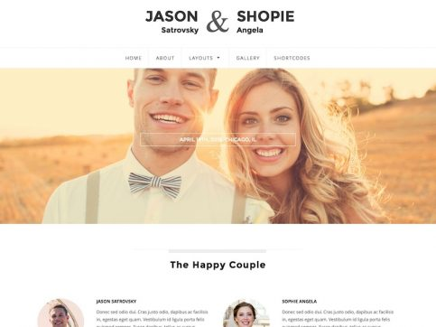 Qaween Wedding WordPress Theme