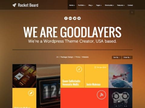 RocketBoard WordPress Theme